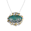 Fairouz Pendant Gold Necklace