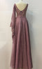 Old rose Women Dress sequins fabric Beaded lace Taffeta Satin