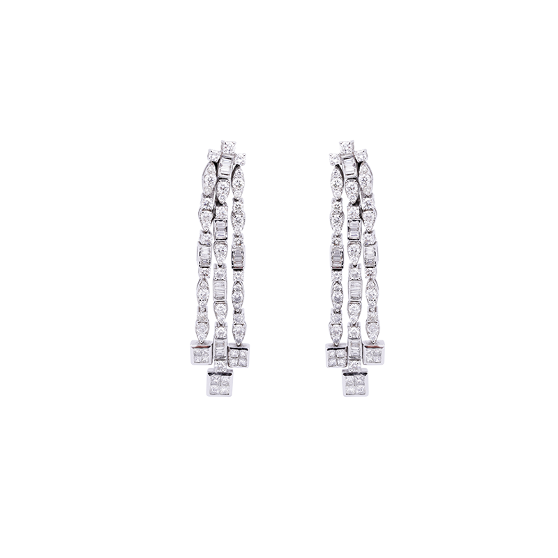 Water Fall Diamond Earrings