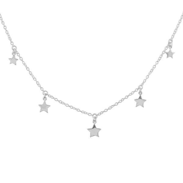 Star Choker Necklace - Sterling Silver-House of Alchemy