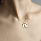 Antique Rose Pendant Necklace - Gold Vermeil-House of Alchemy