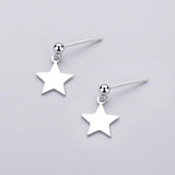 Big Star Drop Earring Studs - Sterling Silver