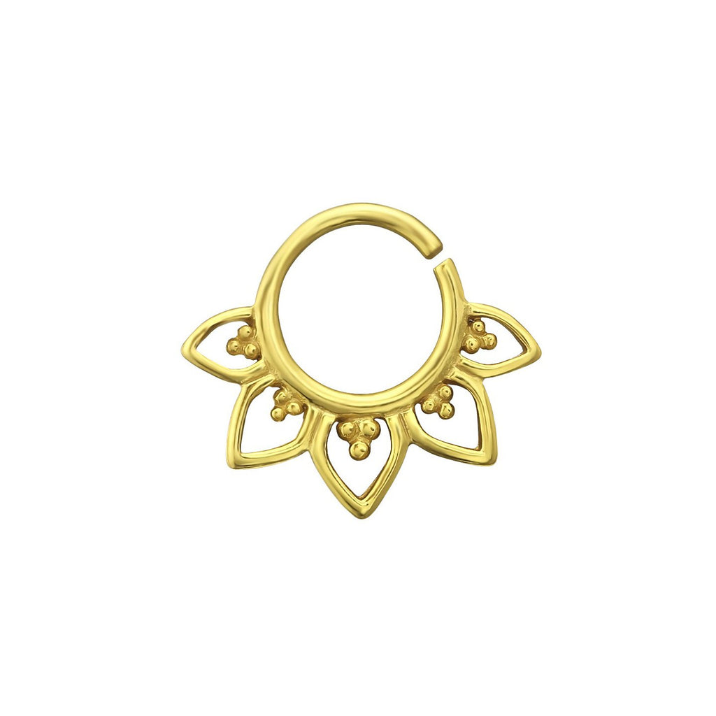 Bohemian Flora Septum Ring - 18k Gold Vermeil-Septum Ring-House of Alchemy