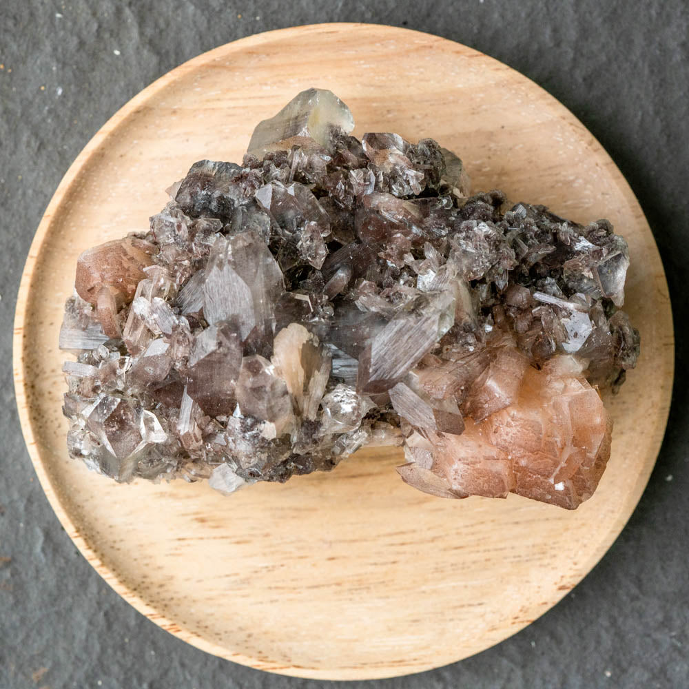 Australia - Brown Chalcedony + Stillbite + Clear Apophyllite-House of Alchemy