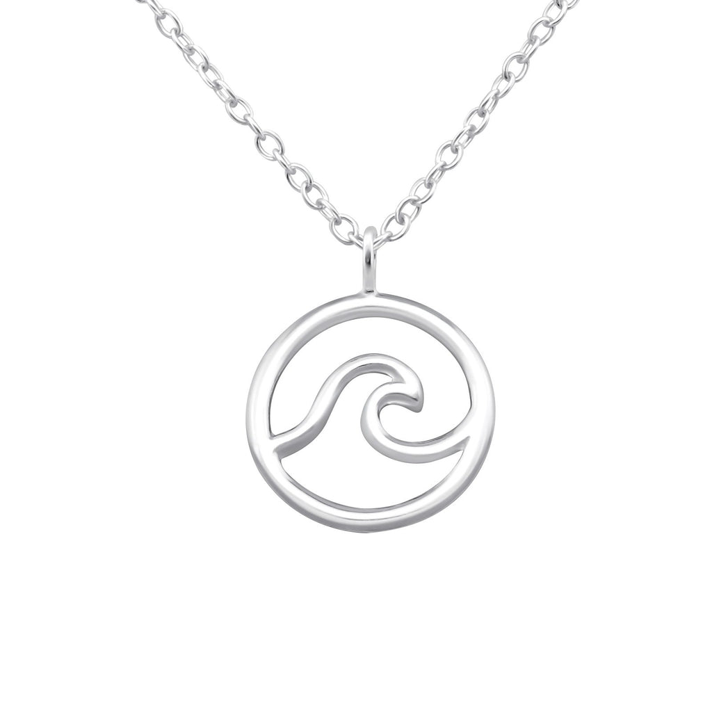 Ocean Wave Necklace - Sterling Silver-Necklaces-House of Alchemy