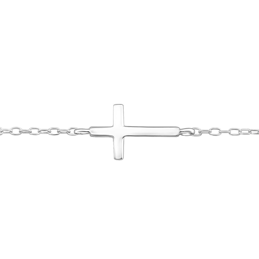 Cross Bracelet - Sterling Silver-Bracelets-House of Alchemy