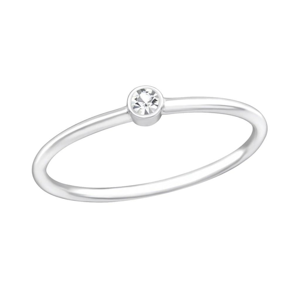 Cubic Zirconia Midi Ring - Sterling Silver-House of Alchemy