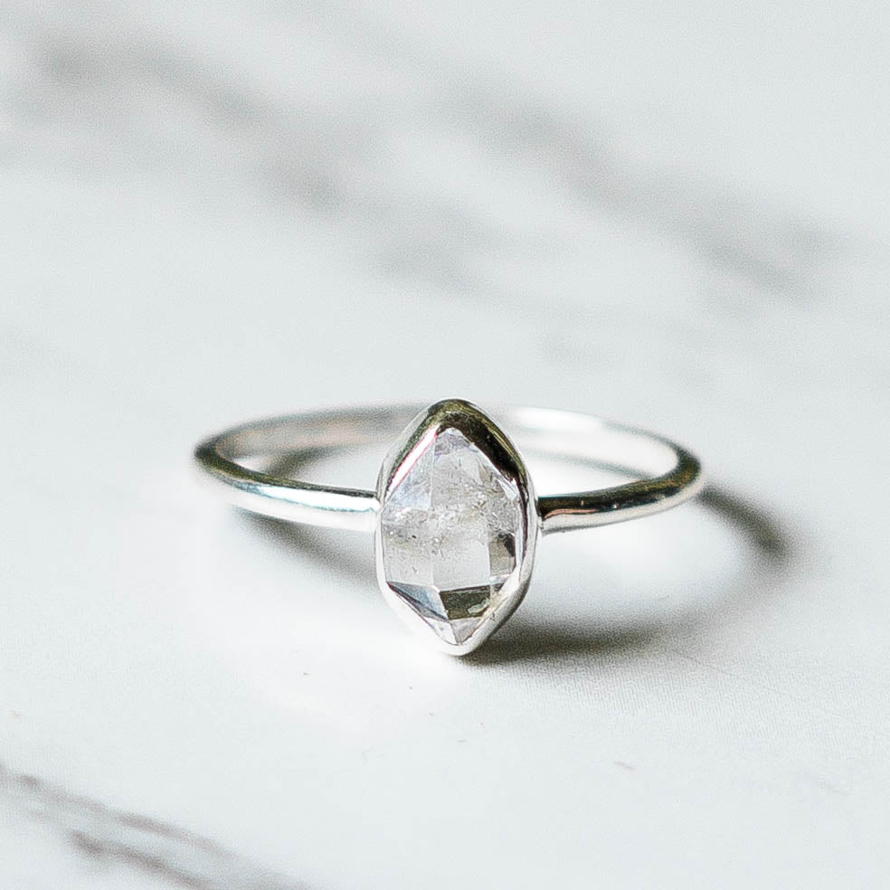 Herkimer Diamond Ring - Sterling Silver-Rings-House of Alchemy
