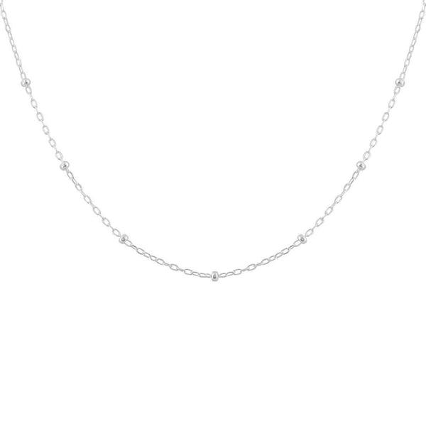 Dot Chain Necklace - Sterling Silver