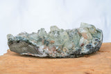 Acana - Clear Apoplhyllite, Peach Stilbite on Blue Chalcedony Base-House of Alchemy
