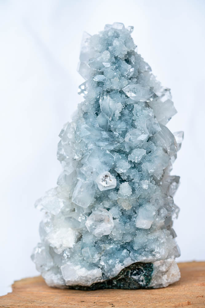 Jupiter - Blue & Grey Chalcedony With Clear Apoplhyllite
