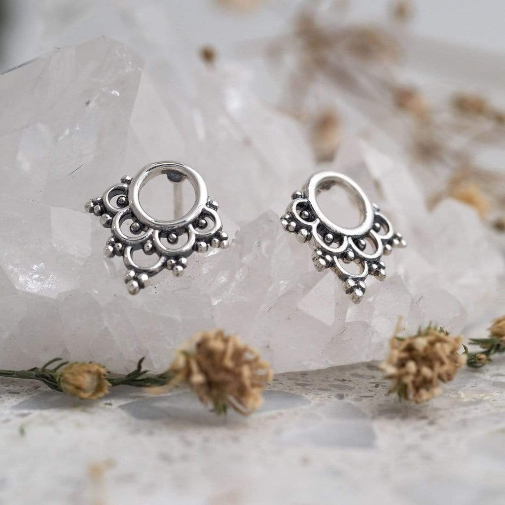 Mystic Bohemian Stud Earrings - Sterling Silver-Earrings-House of Alchemy