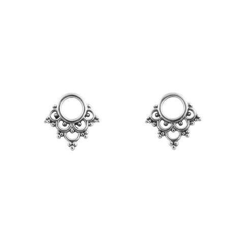 Mystic Bohemian Stud Earrings - Sterling Silver