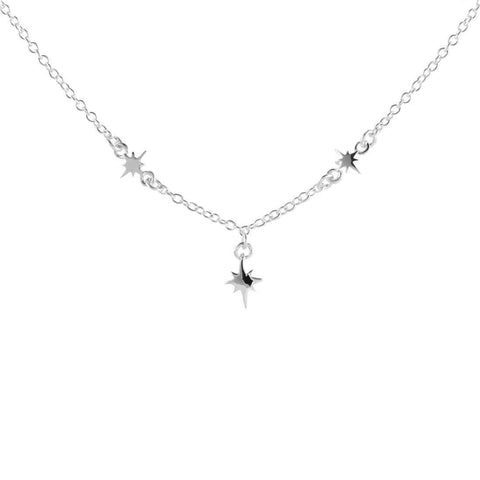 North Star Choker Necklace - Sterling Silver