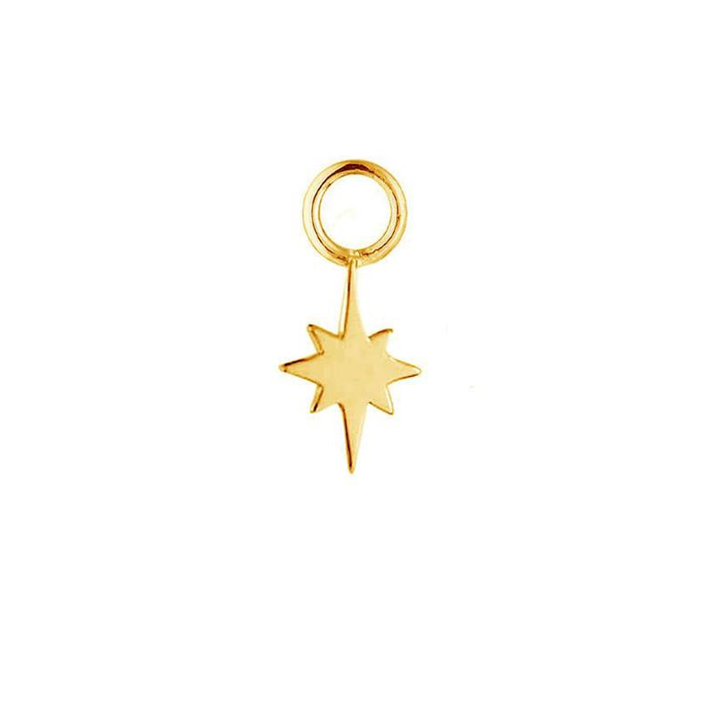 Gold North Star Earring Charm - Gold Vermeil-Earrings-House of Alchemy