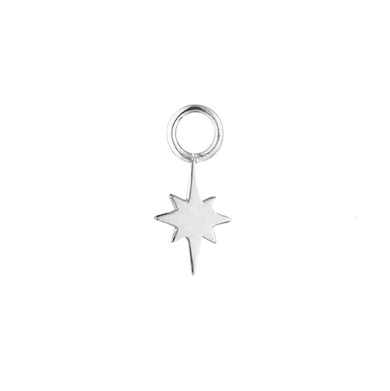 Silver North Star Earring Charm - Sterling Silver-Earrings-House of Alchemy