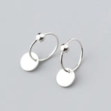Petite Disc Sleeper Earrings - Sterling Silver-Earrings-House of Alchemy