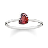 Raw Garnet Ring - Sterling Silver-Rings-House of Alchemy