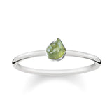 Raw Peridot Ring - Sterling Silver-Rings-House of Alchemy