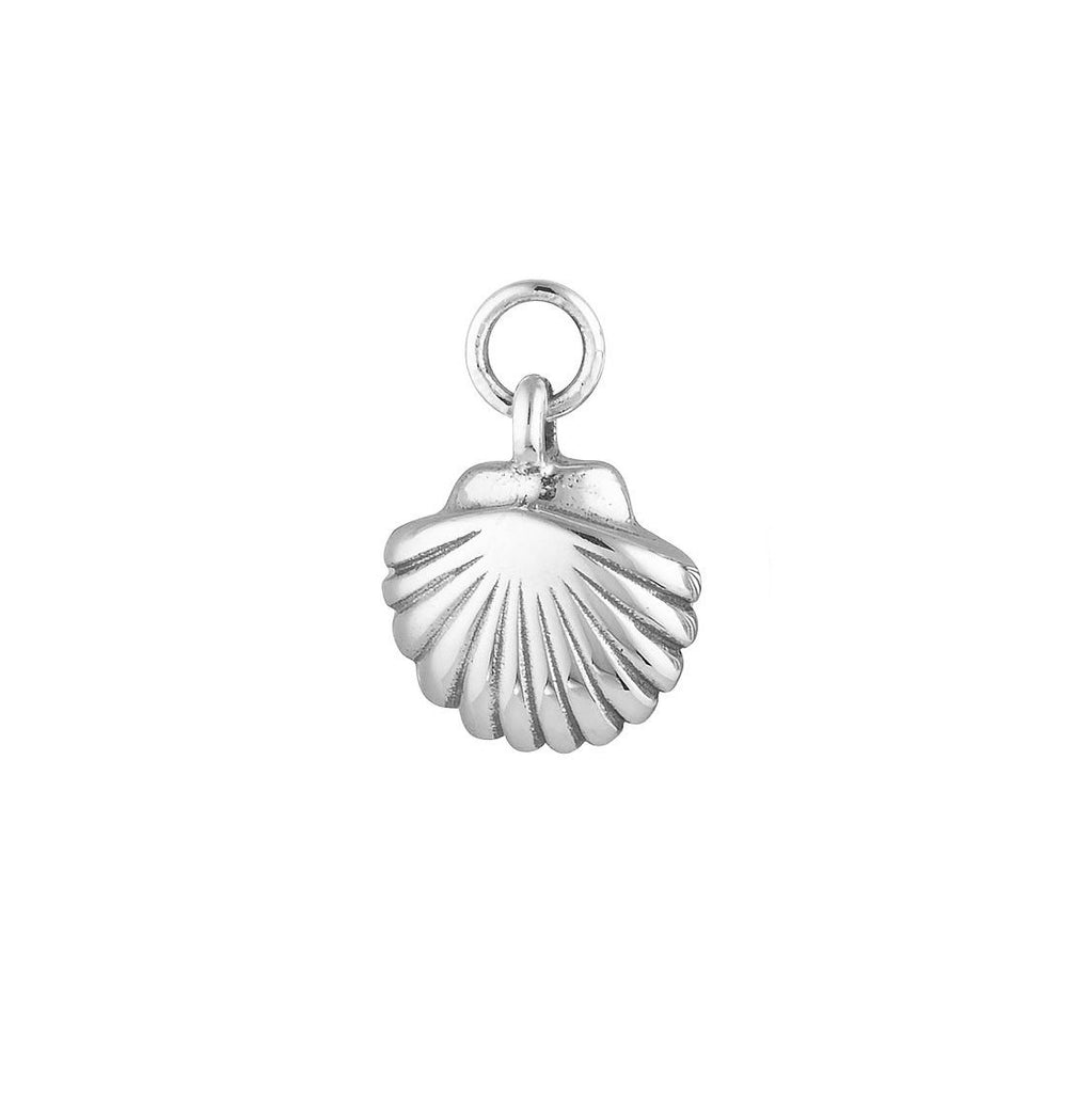 Silver Seashell Earring Charm - Sterling Silver-Earrings-House of Alchemy