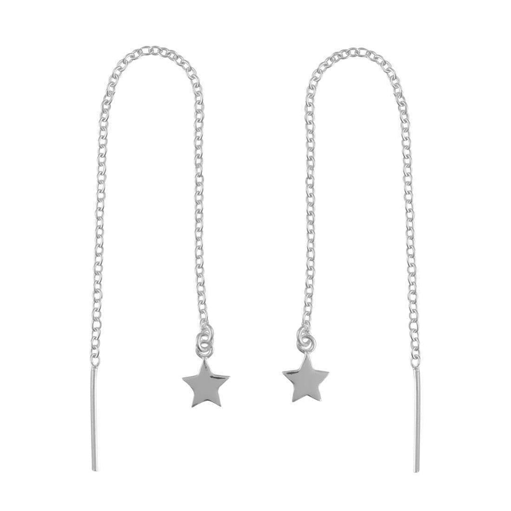 Star Threader Earrings - Sterling Silver-Earrings-House of Alchemy