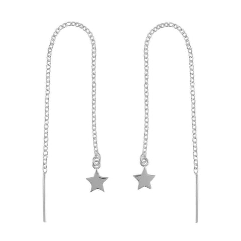 Star Threader Earrings - Sterling Silver