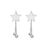 Stars & Planets Drop Earring Studs - Sterling Silver-Earrings-House of Alchemy