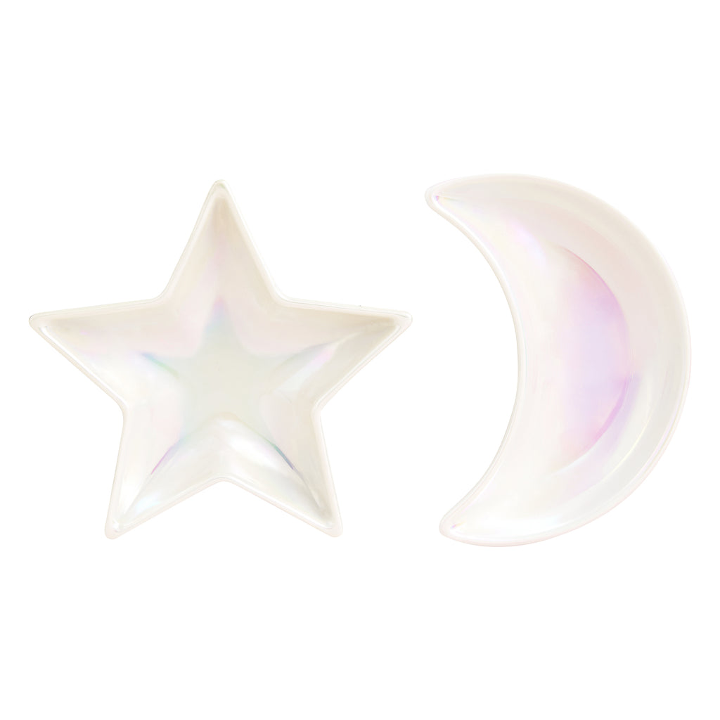Star & Moon Porcelain Jewellery Dish-Homewares-House of Alchemy