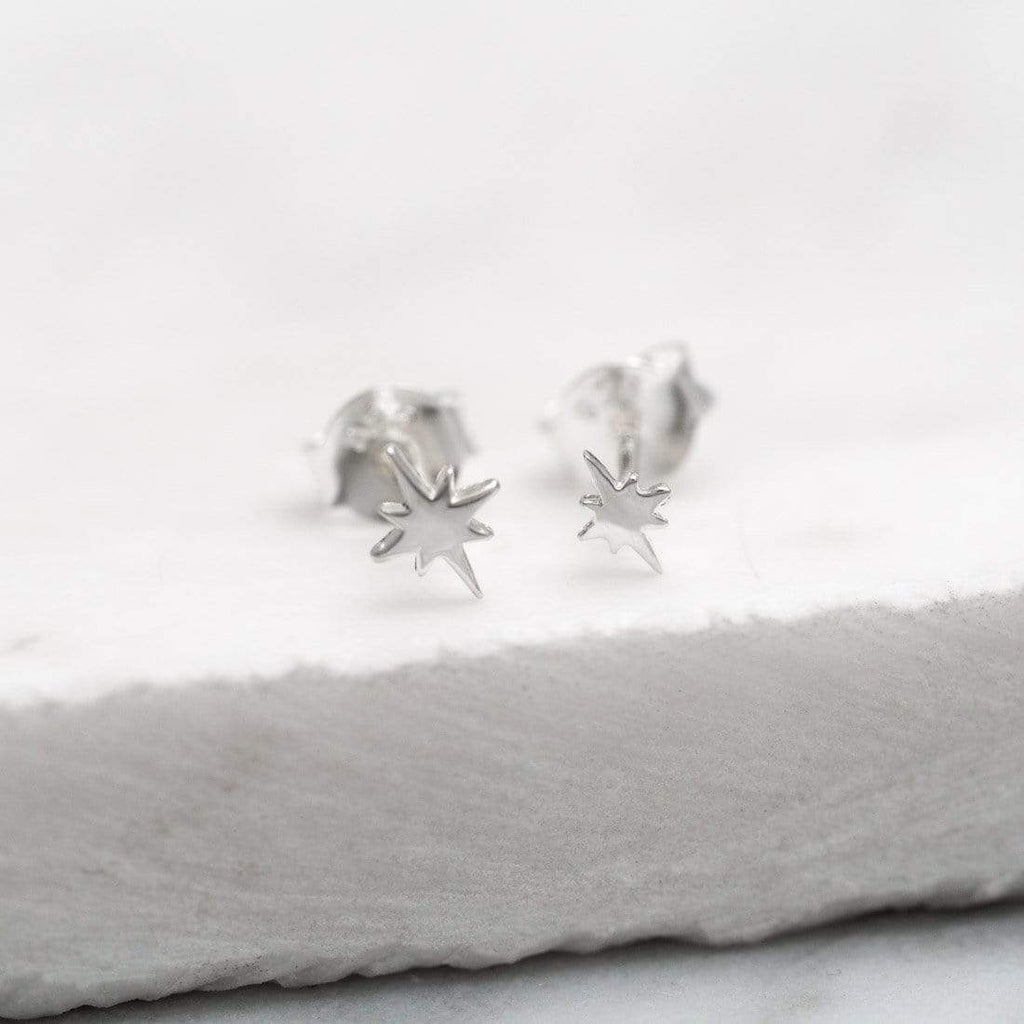 North Star Stud Earrings - Sterling Silver-Earrings-House of Alchemy