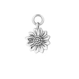 Silver Sunflower Earring Charm - Sterling Silver-Earrings-House of Alchemy