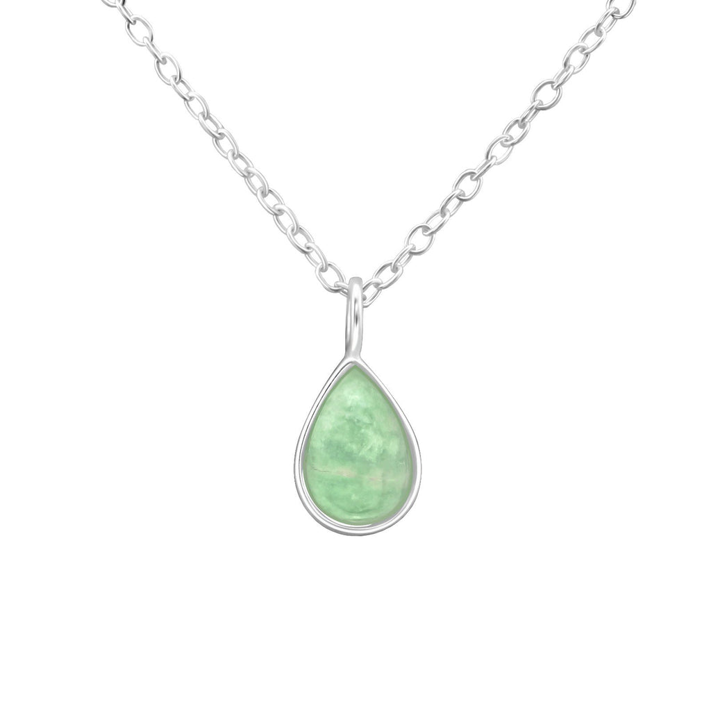 Amazonite Teardrop Necklace - Sterling Silver-Necklaces-House of Alchemy