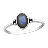 Tridot Bohemian Labradorite Ring - Sterling Silver-Rings-House of Alchemy