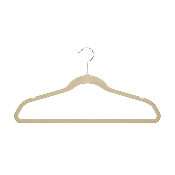 ULTRA-SLIM VELVET SUIT HANGERS - SET OF 100- Beige