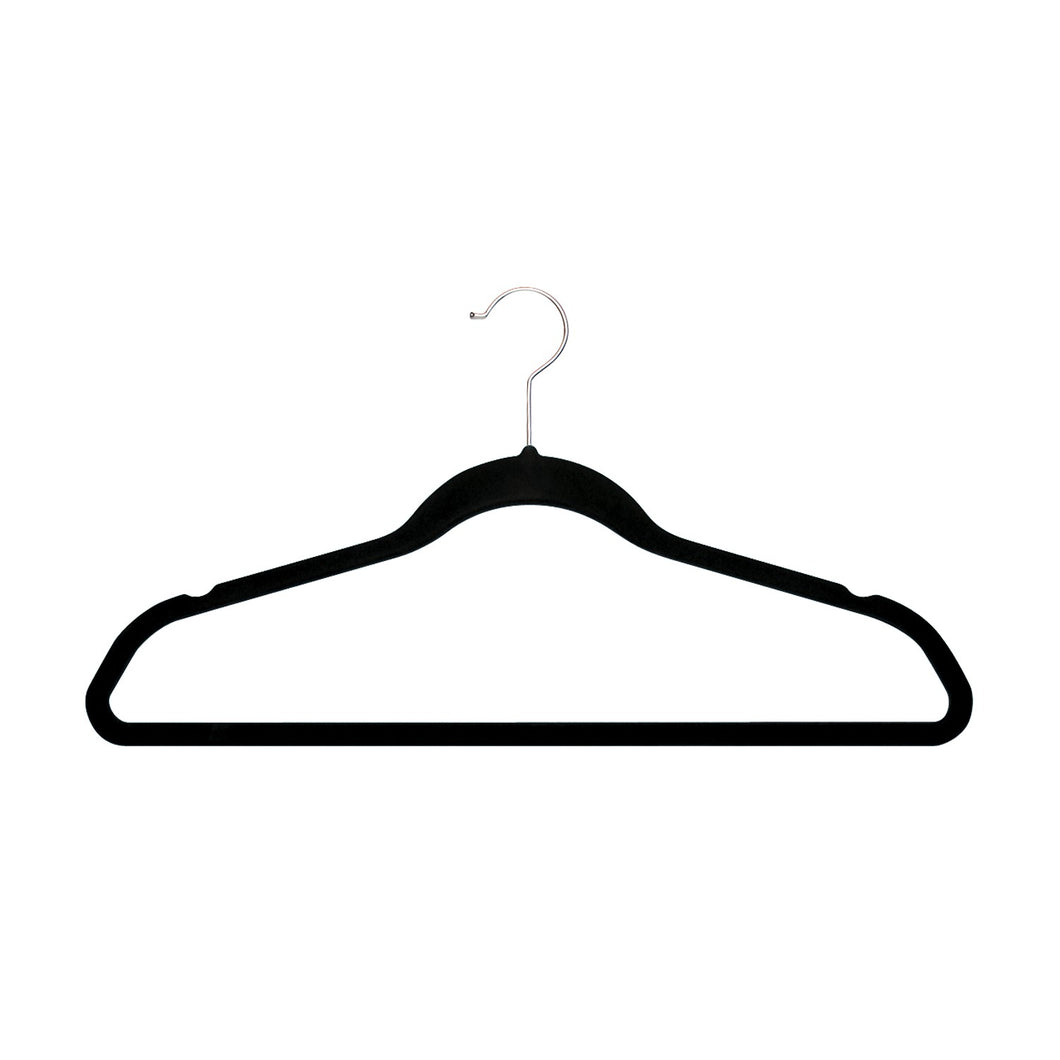 ULTRA-SLIM VELVET SUIT HANGERS - SET OF 30- Black