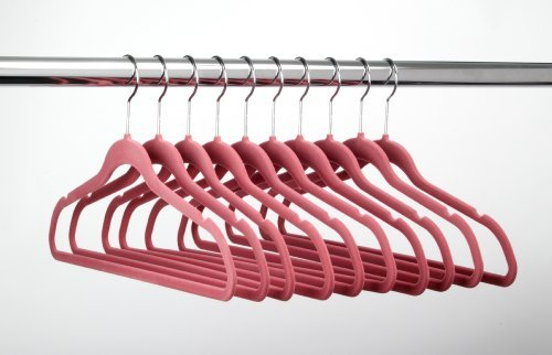ULTRA-SLIM VELVET SUIT HANGERS - SET OF 100- Pink
