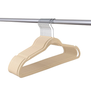 ULTRA-SLIM VELVET SUIT HANGERS - SET OF 25- Beige