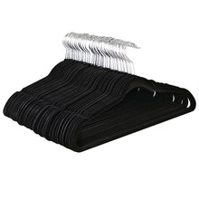 Load image into Gallery viewer, ULTRA-SLIM VELVET SUIT HANGERS - SET OF 25- Black
