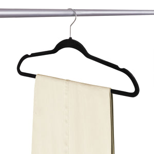 ULTRA-SLIM VELVET SUIT HANGERS - SET OF 100- Black