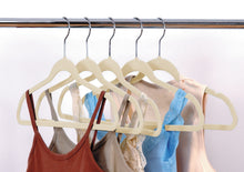 Load image into Gallery viewer, ULTRA-SLIM VELVET SUIT HANGERS - SET OF 25- Beige