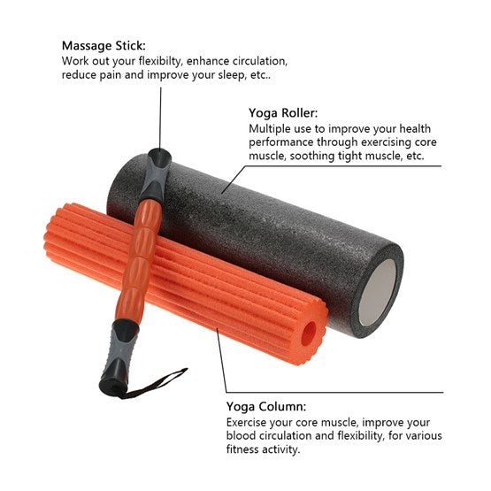 Pro Sports Foam Roller 3 in 1 - 45 x 15 cm - Prosportsae.com
