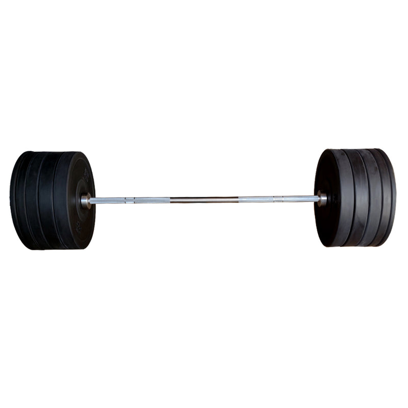 7 Ft Olympic Bar with Rubber Bumper Plates - 160 KG Set | Prosportsae