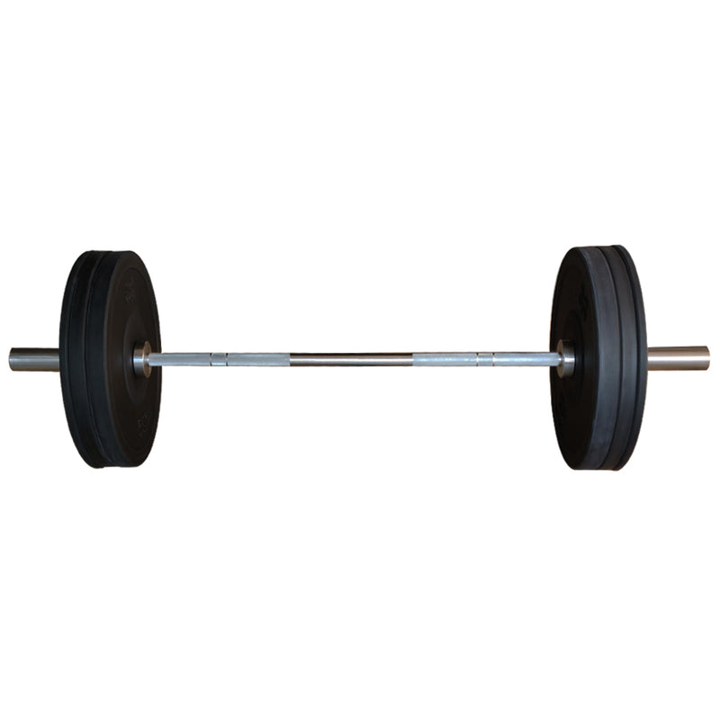 7 Ft Olympic Bar with Rubber Bumper Plates - 80 KG Set | Prosportsae