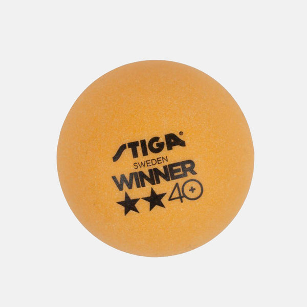 Stiga Winner Table Tennis Ball, Pack of 6 Orange color