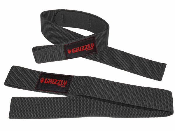 Grizzly Fitness Padded Cotton and Nylon Weight Lifting Wrist Straps for Men and Women (One-Size)