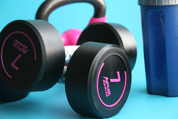 Apus sports Premium Quality Round Rubber Dumbbells (PU) Sold as Pair - For Commercial and Home Use