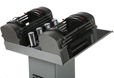 POWER BLOCK SPORT EXP 5-70 DUMBBELL SET WITH COLUMN STAND