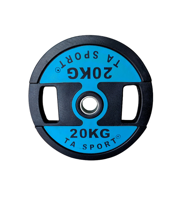 TA Sports Dual Grip Premium Quality Rubber Weight Plates - (2.5 to 20 KG)