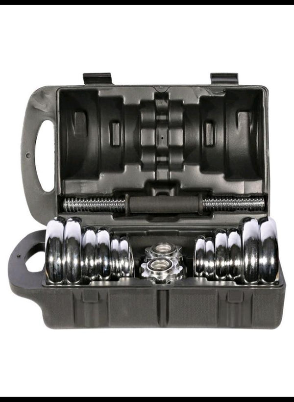 Adjustable dumbbells set with Protective case - 20 kg - Prosportsae.com