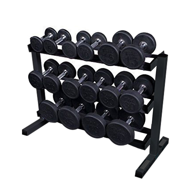 Prosportsae Round Dumbbell 2.5 KG to 20 KG with Dumbbell Rack - 8 Pairs