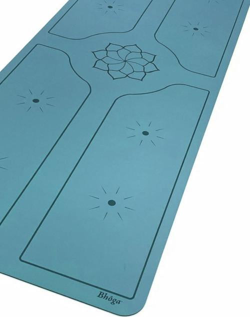 Bhoga Premium Lotus Sun Alignment Yoga Mat - Blue | Prosportsae